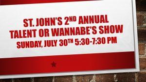 "Talent or ""Wannabe's"" Show! @ St. John's UMC | Saint Petersburg | Florida | United States"