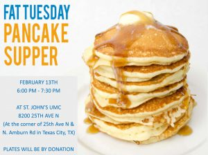 Youth Pancake Fundraiser @ ST JOHNS UMC | Kenosha | Wisconsin | United States