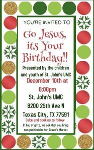 Christmas Program @ St. John's UMC | Texas City | Texas | United States
