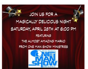 Magically Delicious Dinner Show @ St. John's UMC | Texas City | Texas | United States