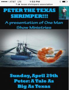 Peter The Texas Shrimper @ St. John's UMC | Texas City | Texas | United States